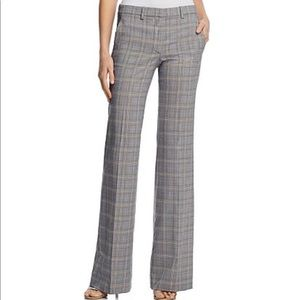 Theory Demitria Plaid Pants NWT $365